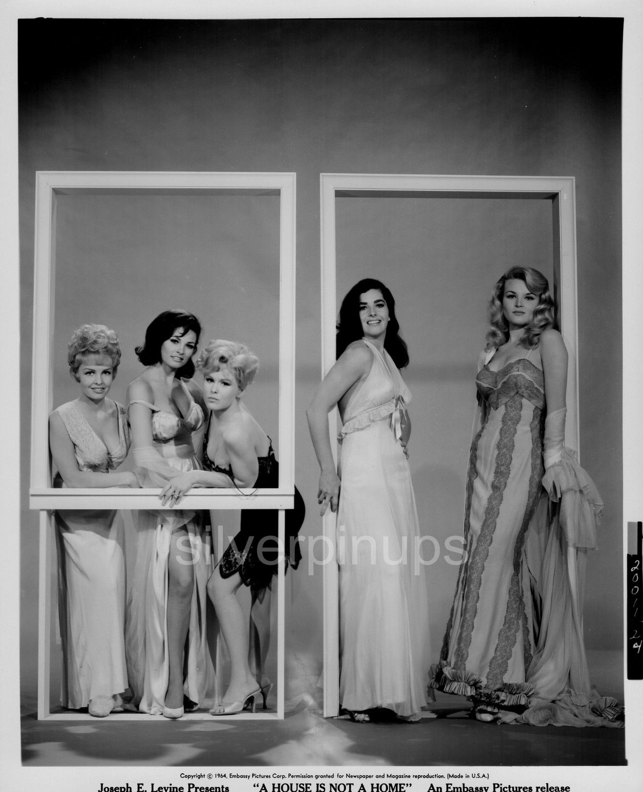 """Amadee Chabot (2) orig 1964 raquel welch - edy williams negligees """"a house is not home"""""""