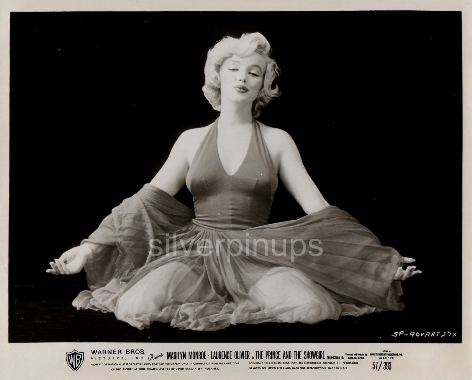 orig 1957 marilyn monroe �red dress sitting� glamour by