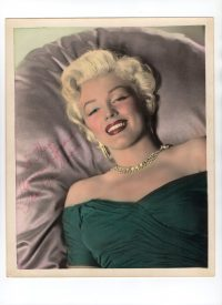 ff29aa7b7d2be Orig 1953 MARILYN MONROE Color Tinted.. DBW GLAMOUR Portrait SECRETARIAL  SIGNATURE